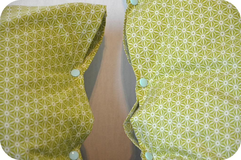 Riley Blake fabrics pillow case / Retro beddengoed / zelf retro beddengoed maken / zelf kussenslopen maken / www.geensteekjelos.wordpress.com