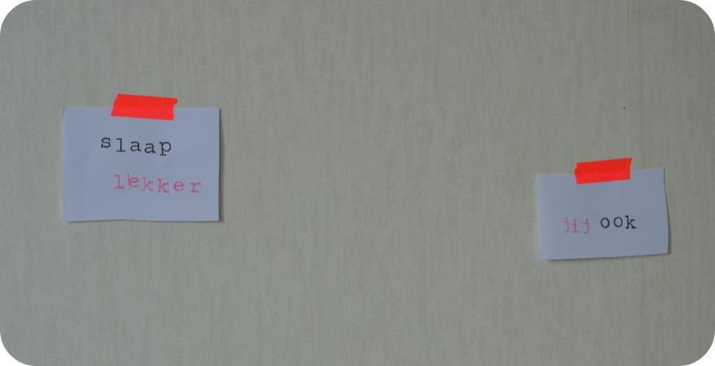 inspiratie / tekst op de muur slaapkamer / tekst stempelen / DIY stempels / tekst in je slaapkamer / tekst voor op de muur van de slaapkamer / www.geensteekjelos.wordpress.com
