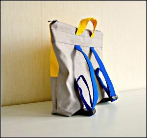 handgemaakte rugtas / rugtas zelf maken / rugtas van canvas / www.geensteekjelos.wordpress.com