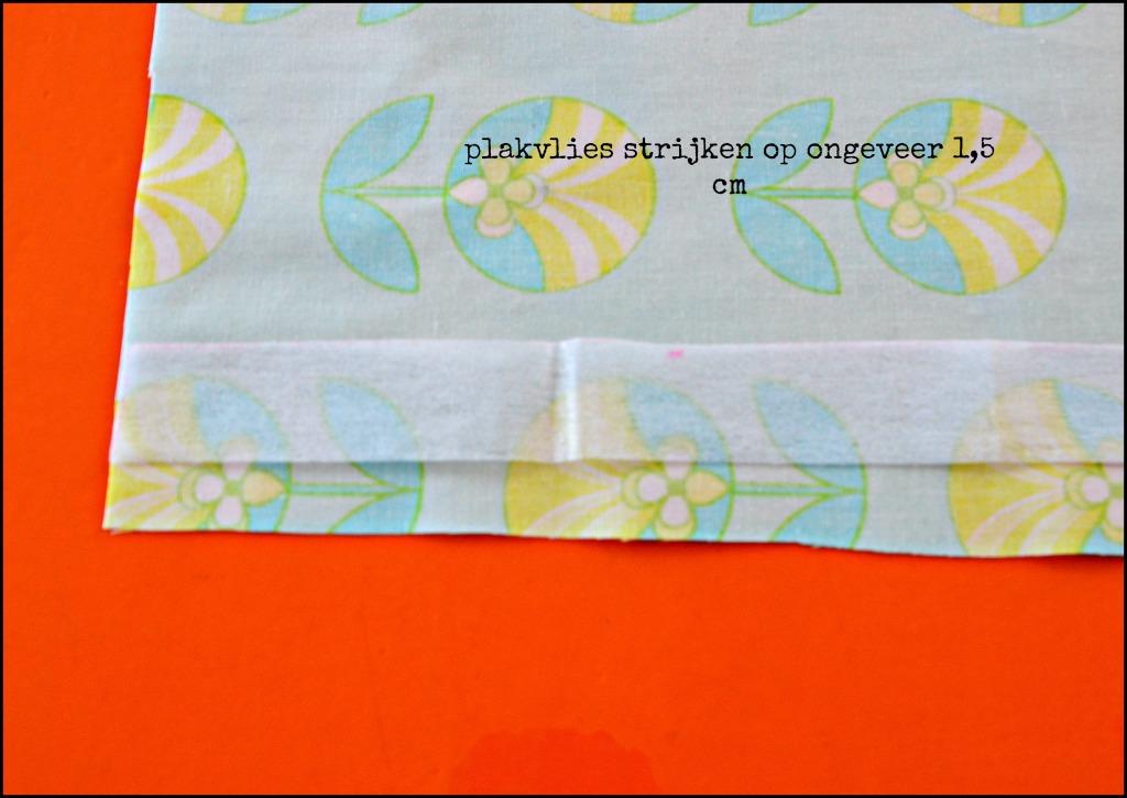 plakvlies strijken / zelf kussenslopen maken / beddengoed maken / handleiding kussenslopen maken / www.geensteekjelos.wordpress.com