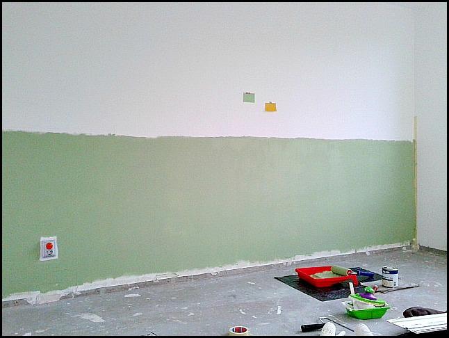 Woonkamer Groen Verven: Muur kleur grijs groen anortiz for. Woonkamer ...