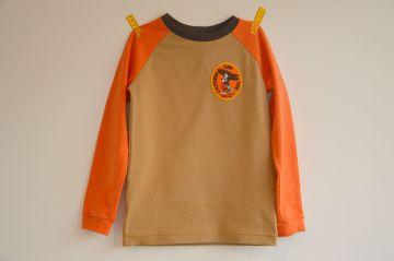 shirt beige oranje